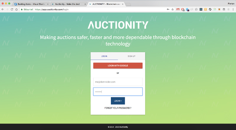 Auctionity widget integration