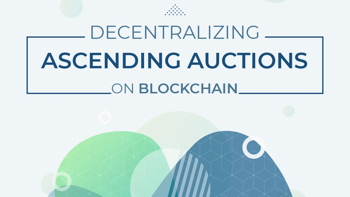 Ascending auctions on blockchain