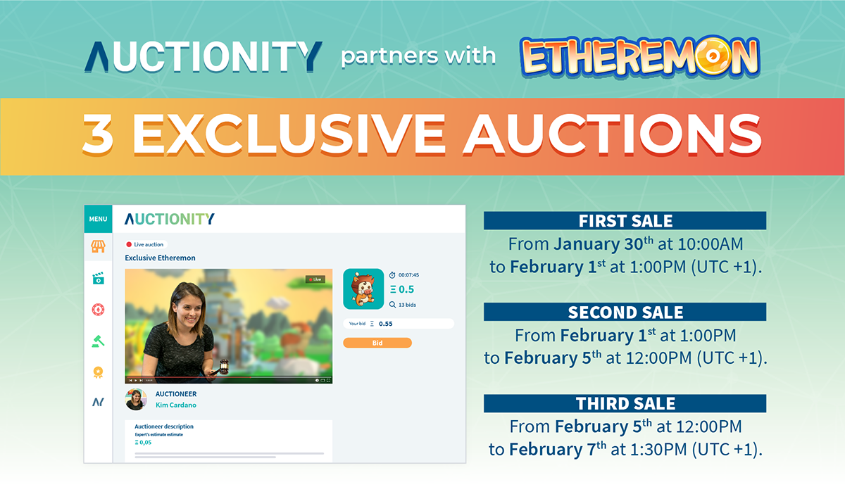 Auctionity partners with Etheremon