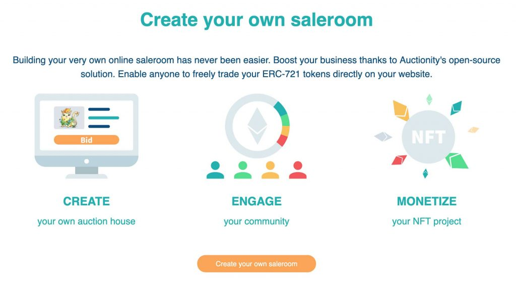 create your saleroom on Auctionity