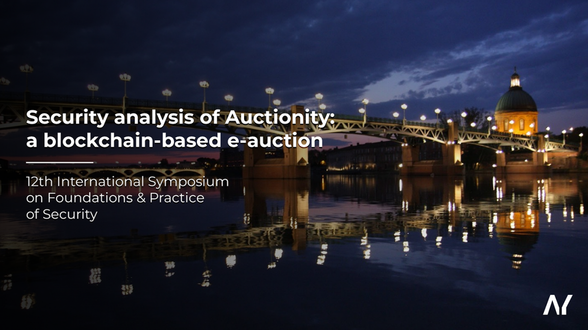 Security analysis of Auctionity: a blockchain-based e-auction